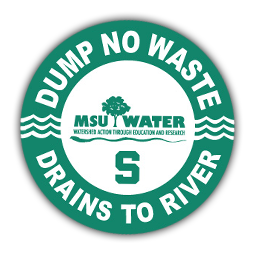 Dump No Waste - Drains to River